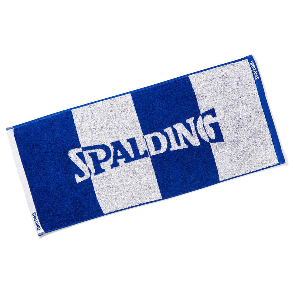 抗菌防臭機能 使い勝手の良い SPALDING ジャカードタオル ブルー ボーダー セール 特集