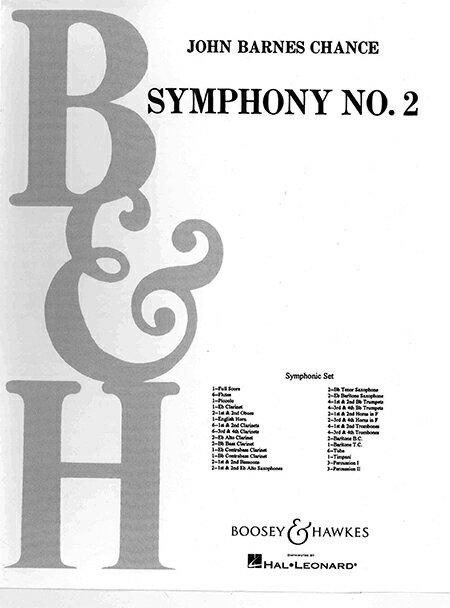 【取寄 約7-21日間】交響曲第2番 作曲:ジョン・バーンズ・チャンス Symphony No.2 for Winds & Percussion【吹奏楽 楽譜セット】