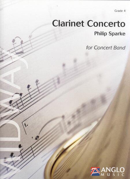 クラリネット協奏曲 作曲:フィリップ・スパーク Clarinet Concerto【吹奏楽 楽譜セット】