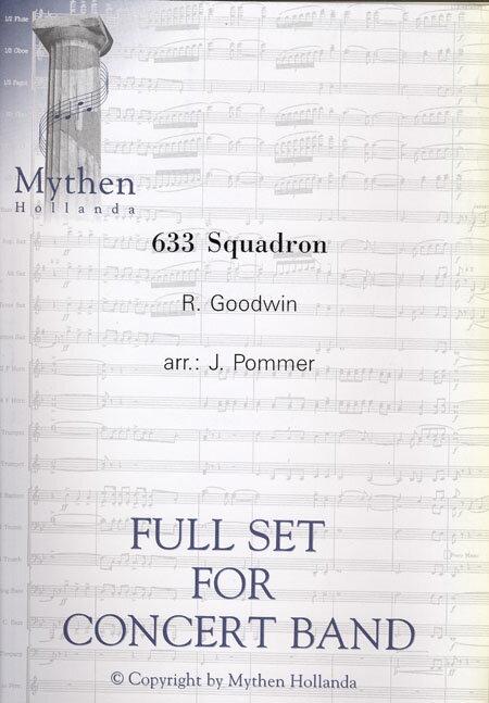 【取寄 約7-21日間】633爆撃隊 作曲:ロン・グッドウィン 編曲:ヨス・ポメル 633 Squardron【吹奏楽 楽譜セット】