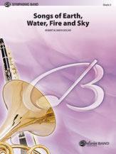【取寄 約7-10日間】大地と水と火と空の歌 作曲:ロバート・W・スミス Songs of Earth, Water, Fire and Sky 【吹奏楽 楽譜セット】