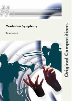 【取寄 約14-21日間】マンハッタン交響曲 作曲:セルジュ・ランセン Manhattan Symphony 【吹奏楽 楽譜セット】