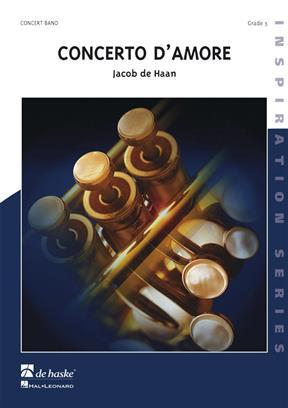 【取寄 約10日間】コンチェルト・ダモール 作曲:ヤコブ・デハーン Concerto D'Amore【吹奏楽 楽譜セット】