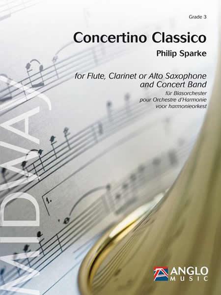 【取寄 約10日間】コンチェルティーノ・クラシコ 作曲:フィリップ・スパーク Concertino Classico 【吹奏楽 協奏曲 楽譜セット】