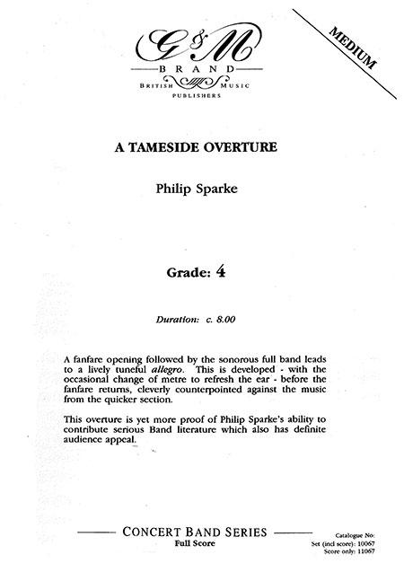 テームサイド序曲作曲:フィリップ・スパークA Tameside Overture【吹奏楽 楽譜セット】