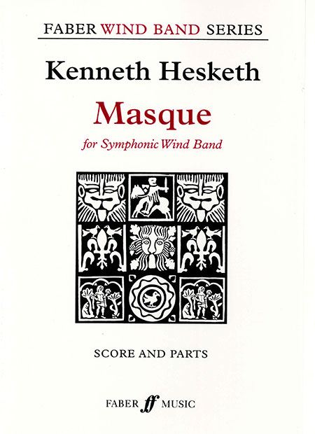 マスク 作曲:ケネス・ヘスケス Masque【吹奏楽 楽譜セット】