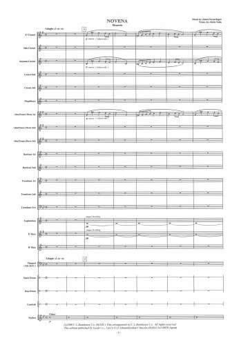 【取寄 約7日間】ノヴェナ 作曲:ジェイムズ・スウェアリンジェン 編曲:戸田 顕 Novena【金管バンド-楽譜セット】