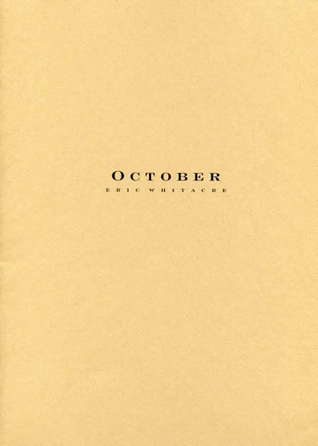 【取寄 約21-28日間】オクトーバー 作曲:エリック・ウイッテカー October【吹奏楽 楽譜セット】
