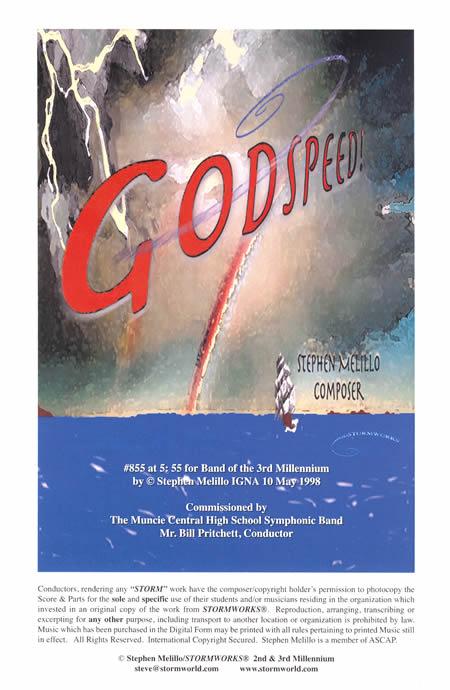【取寄 約7日間】ゴッドスピード! 作曲:スティーヴン・メリロ GODSPEED!【吹奏楽 楽譜セット】