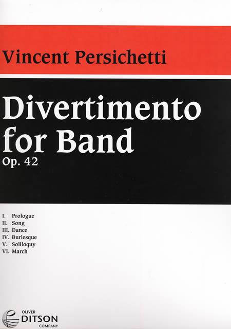 【取寄 約14-21日間】バンドのためのディヴェルティメント 作曲:ヴィンセント・パーシケッティ Divertimento for Band【吹奏楽 楽譜セット】