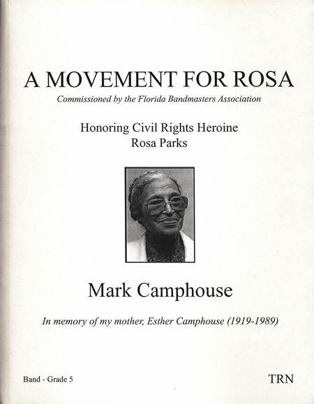 【取寄 約7-21日間】ローザの為の楽章 作曲:マーク・キャンプハウス A Movement for ROSA【吹奏楽 楽譜セット】
