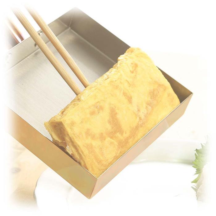 食楽工房 本職用玉子焼き 18cm(木蓋付) cne117 | 便利 | おしゃれ | 本格 | 玉子 | たまご | 卵 | ふっくら | 銅 | 衛生 | アサヒ
