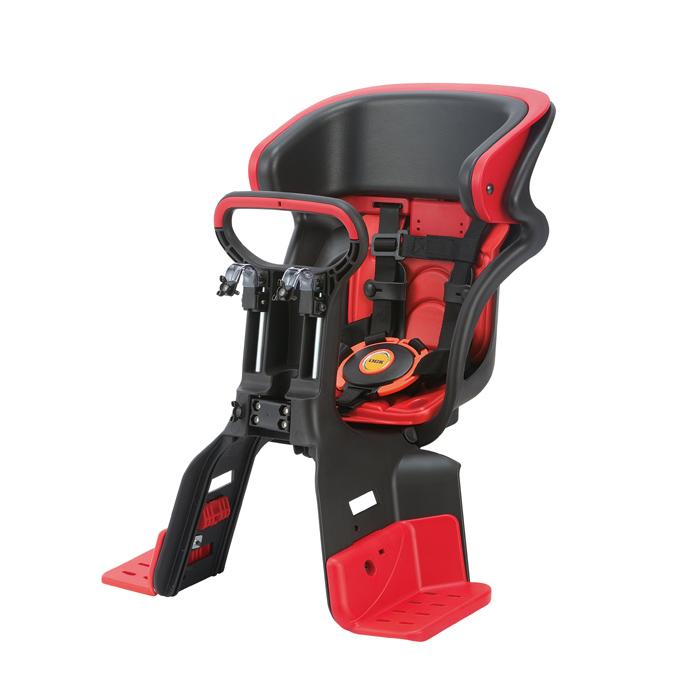 【送料無料】 ヘッドレスト付コンフォートフロント子供のせ ブラック・レッド FBC-011DX3-91|OGK| 黒・赤 |自転車|椅子|ヘッドレスト|シート|オージーケー|おしゃれ|安全|チャイルド|子供用| 10P18Jun16