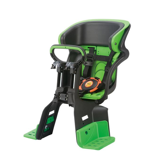 【送料無料】 ヘッドレスト付コンフォートフロント子供のせ ブラック・グリーン FBC-011DX3-96 OGK  黒・緑  自転車 椅子 ヘッドレスト シート オージーケー おしゃれ 安全 チャイルド 子供用  10P18Jun16