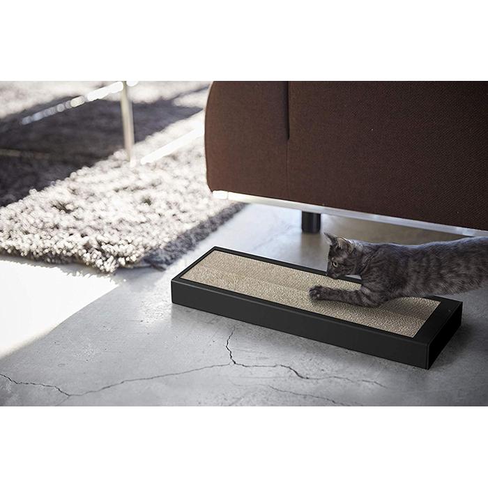 【送料無料】猫の爪とぎケース タワー ブラック 04211 | 山崎実業 YAMAZAKI おしゃれ スタイリッシュ かわいい 便利 シンプル 交換用 つめとぎ 爪研ぎ 爪みがき キャット 猫用品 猫用爪とぎ ねこ ネコ