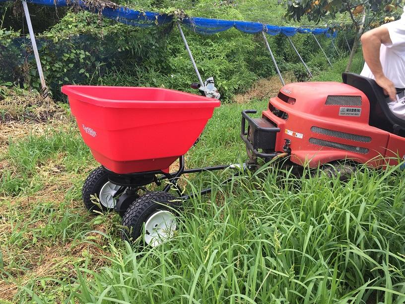テスト機処分特価 アースウェイ EF130H-T アウトレット 牽引式 ハイアウトプット 散布機 大容量 空気タイヤ 果樹園 肥料 ペレット 散布機 Earthway 組立及び工具必要。