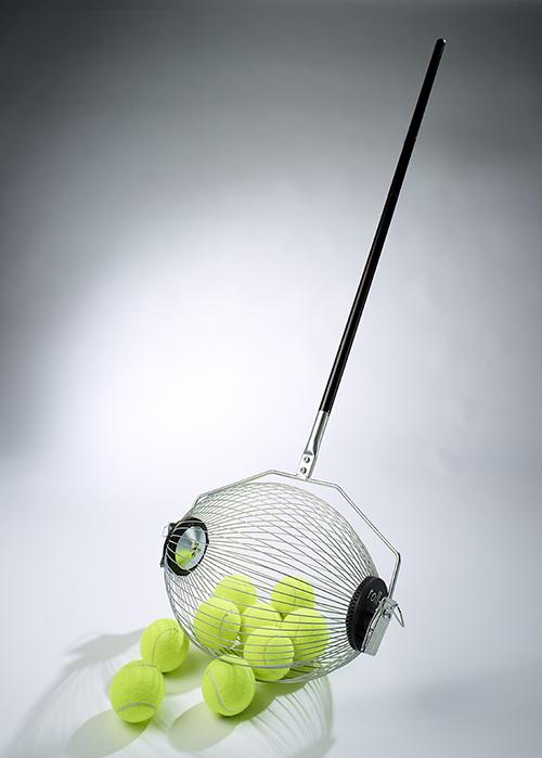 コレクタボール CS40 テニスボール ソフトテニス 集球機 テニス 買い物かご(レジカゴ)用オープナー付
