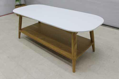 【アウトレット】 コーヒーテーブル ローテーブル ctb-ak-h45 オークウッド インテリア ブラウン 茶 ホワイト 白 インテリア 収納 テーブル センターテーブル ローテーブル 中古 家具 家具中古