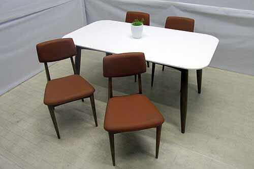 【アウトレット】 ダイニングテーブル 幅160 dtb-ak-m チークウッド ホワイト 白 インテリア 収納 テーブル ダイニングテーブル 中古 家具