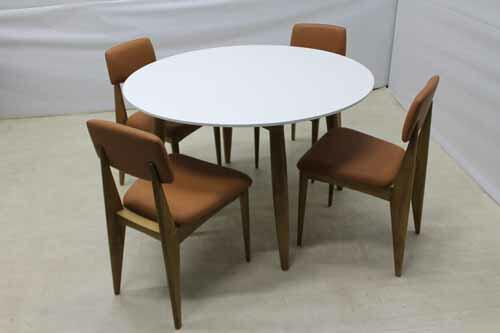 【アウトレット】 ダイニングテーブル 円卓 φ120 dtb-ak-r オークウッド ホワイト 白 インテリア 収納 テーブル ダイニングテーブル 中古 家具