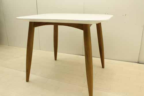 【アウトレット】【一部地域送料無料】 ダイニングテーブル 幅100 dtb-ak-s オークウッド ホワイト 白 インテリア 収納 ダイニングセット 中古 家具