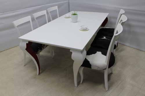 【アウトレット】 ダイニングテーブル 単品 幅200 マホガニーウッド ホワイト 白 北欧風 インテリア dtb-sg-l-tt 中古 家具