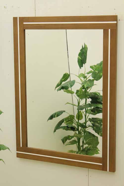 【アウトレット】【一部地域送料無料】 鏡 ミラー ウォールミラー MRR016 ブラウン 茶 インテリア 収納 収納家具 リビング壁面収納 システム収納 中古 家具