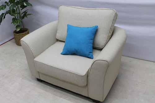 Sofa Sf Queen 1p Fabric Cloth Beige