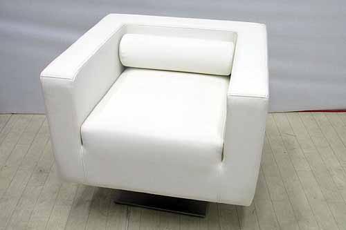 【アウトレット】 一人掛けソファー 回転式 sf007-wh 合皮レザー ホワイト 白 インテリア 収納 ソファ ソファベッド ソファ 中古 家具