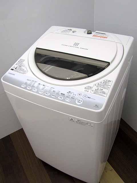 【あす楽】【中古 洗濯機】東芝 全自動洗濯機 AW-60GM-W 6.0kg ピュアホワイト 2014年製 【M】中古洗濯機 洗濯機 家電 2~3人用 新婚さん ファミリー 中型 激安