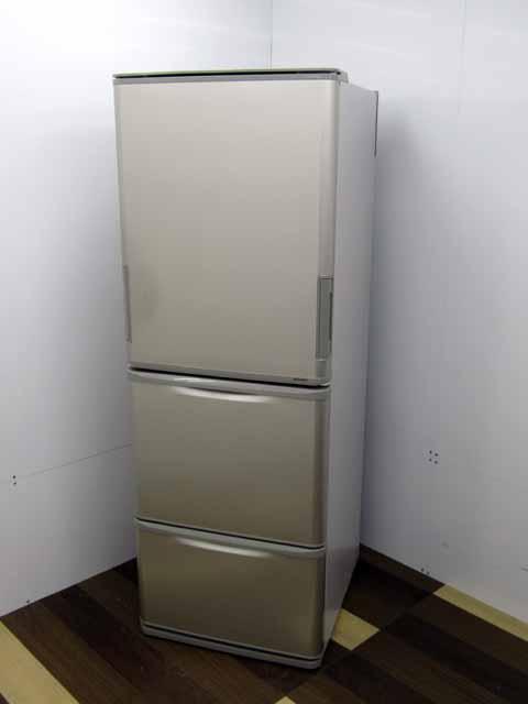 【中古】【冷蔵庫】シャープ SJ-W352D-N どっちもドア 350L 3ドア ゴールド 2018年製 300リットル~ 2~3人向け 家電 キッチン家電 中型 価格 安い おすすめ 人気 激安 キッチン