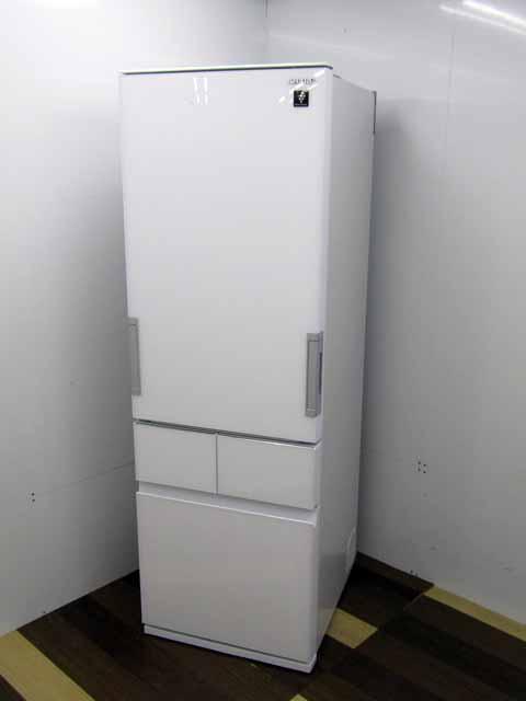 【中古】【冷蔵庫】 シャープ SJ-GT42E-W 4ドア 415L プラズマクラスター どっちもドア ガラスドア ピュアホワイト 2019年製 400リットル~ ファミリー向け 家電 キッチン家電 大型 価格 安い おすすめ 人気 激安 大家族 キッチン