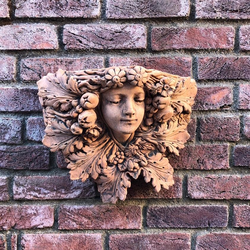 Ornate products 壁掛け オーナメント lady leaf
