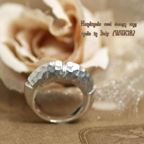 イタリア製 ハンドメイド 指輪 リング K18 ホワイトゴールド ジュエリー アクセサリー レディースジュエリー 品質保証 プレゼント 贈り物 ファッション セレクトジュエリー 30代 40代 50代 60代 おすすめ エシカルジュエリー 送料無料