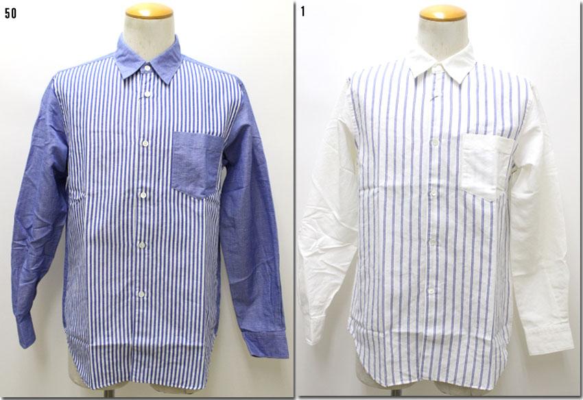 JOHN BULL 【ジョンブル】 レギュラーカラーシャツ ストライプコンビ  JOHN BULL×Makerhood Shirt  13424 【10P09Jul16】
