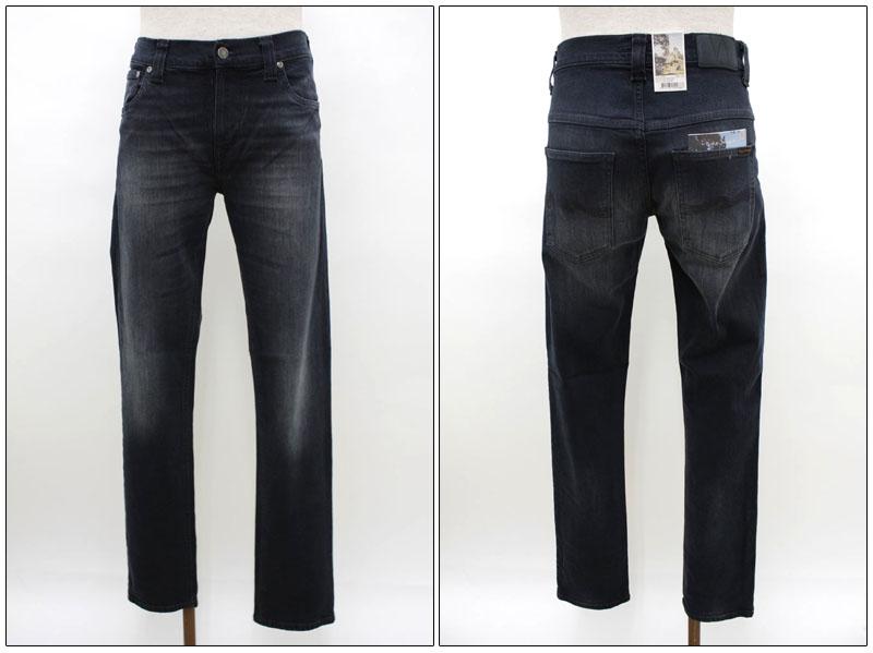 NUDIE jeans 【ヌーディージーンズ】 スキニーブラックデニム THIN FINN 37161-1122 【10P09Jul16】