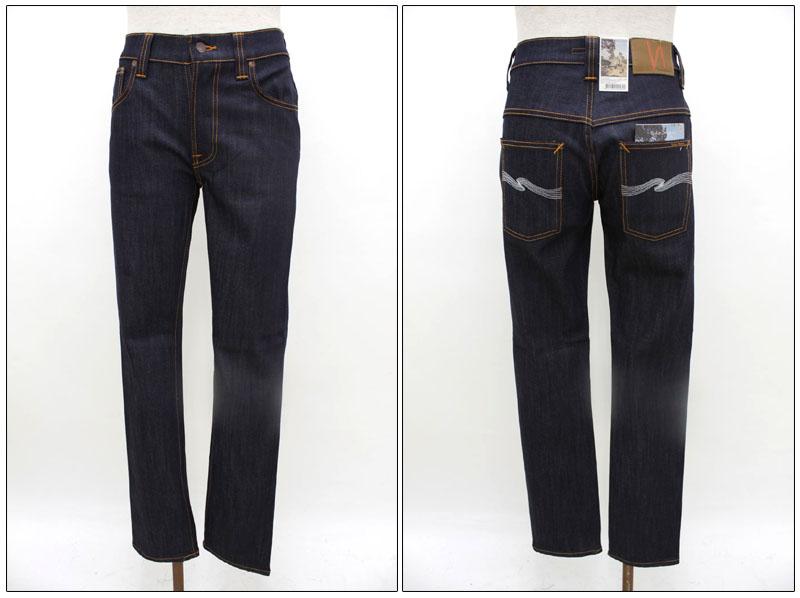 NUDIE jeans 【ヌーディージーンズ】 デニムスキニージーンズ THIN FINN ORGANIC DRY ECRU EMB 38161-1679/41161-1002/43161-1002/45161-1002 【10P09Jul16】