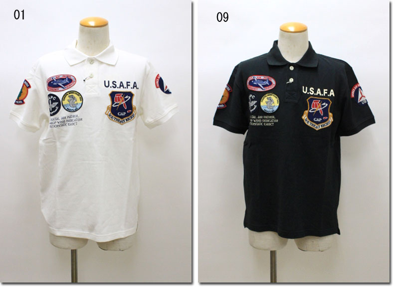 AVIREX 【アビレックス/アヴィレックス】 C.A.P PATCHED POLOSHIRT C.A.Pパッチドポロシャツ  6173308