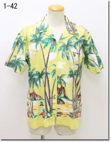 ABAHOUSE 【アバハウス】 アロハシャツ 半袖ファスナーシャツ 00610047