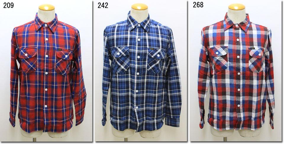 Lee 【リー】 ネルシャツ チェック ワーク シャツ  LT0596