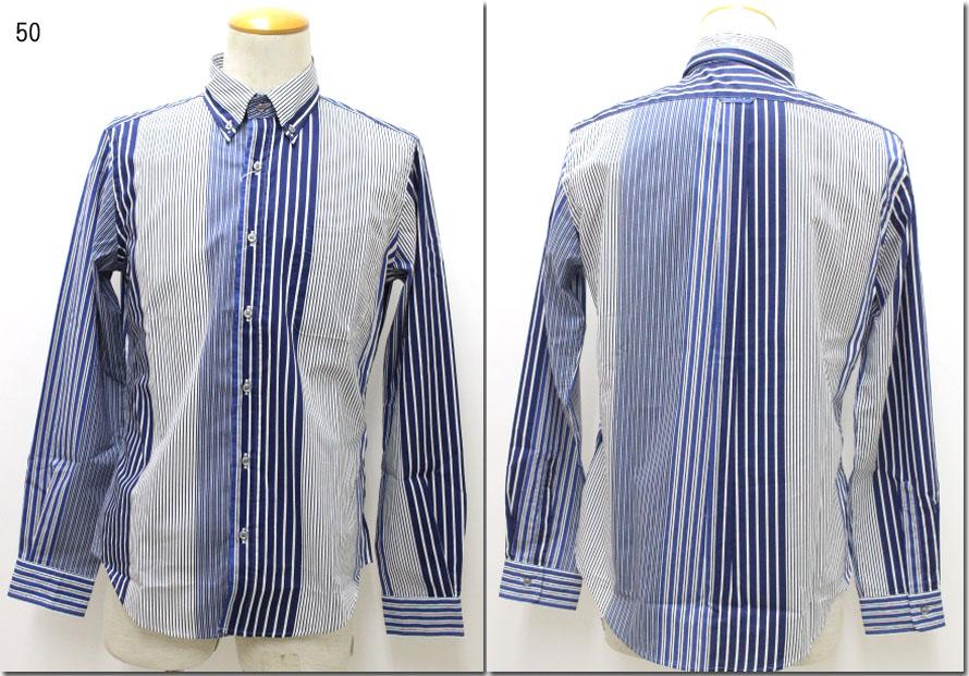 HARRISS 【ハリス】 マルチストライプボタンダウンシャツ HS191-01013