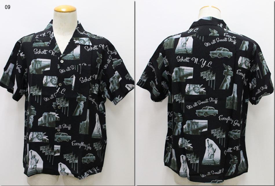 SCHOTT 【ショット】ハワイアンシャツ アロハシャツ  ニューヨークフォト 3195021