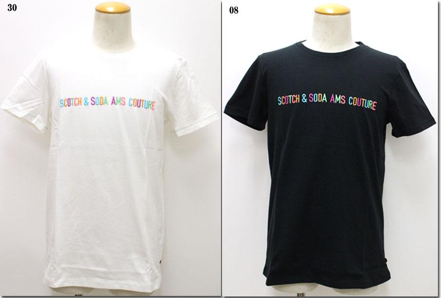 SCOTCH&SODA 【スコッチ&ソーダ】カラーエンブロイダリーロゴTシャツ  292-74450
