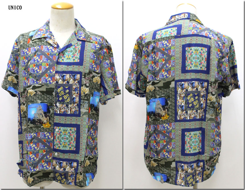 LOST IN ALBION 【ロストインアルビオン】 マルチエスニックプリントオープンカラーシャツ LA198011