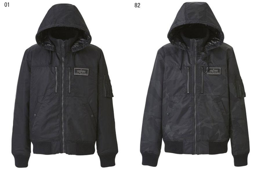 ALPHA【アルファ】フーデットリブジャケット ブルゾン ミリタリー TA1396