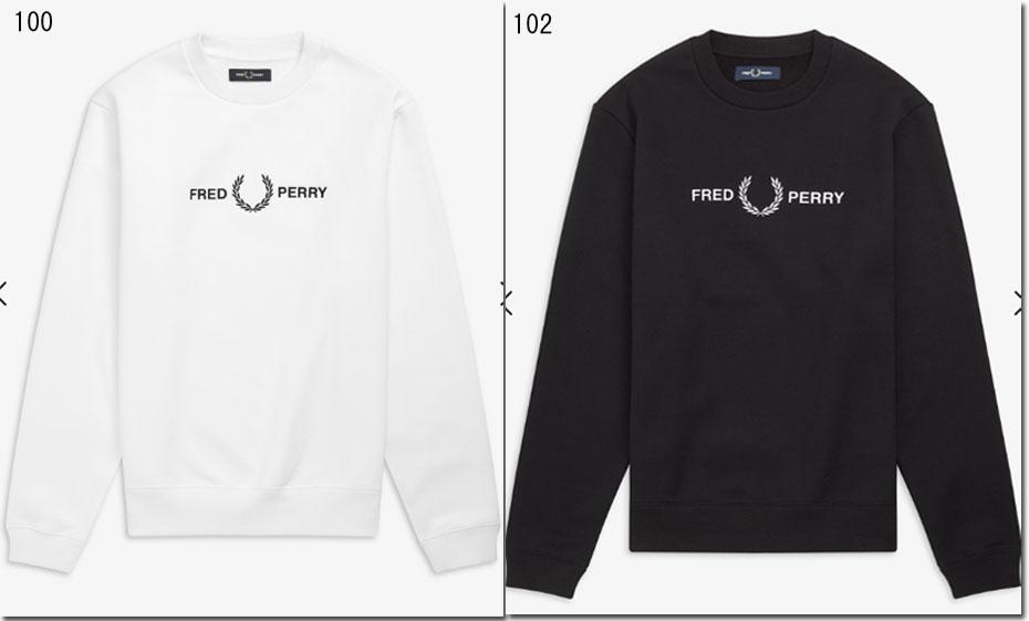 FRED PERRY 【フレッドペリー】グラフィックスウェット 裏起毛 ロゴ刺繍 M7521