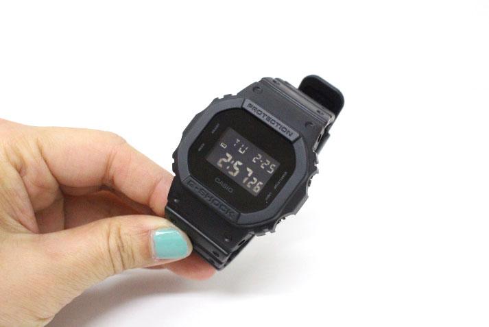 G-SHOCK【ジーショック】 オールブラック 腕時計 ソリッドカラーズ  Solid Colors Gショック DW-5600BB-1JF