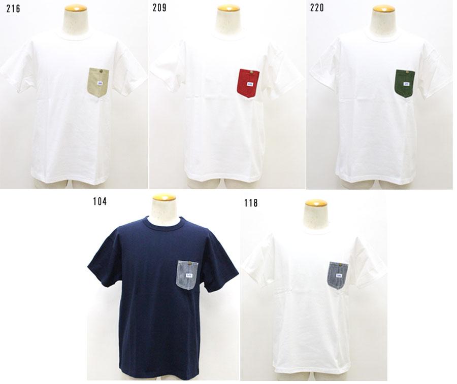 3 980円 税込 在庫一掃 以上購入で送料無料 Lee リー ポケットT デニム 新着セール ヒッコリー 半袖 Tシャツ LT4012