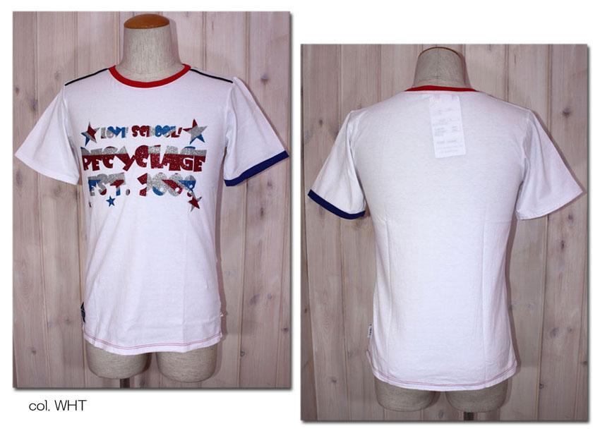 3 セットアップ 980円 税込 以上購入で送料無料 RECYCLAGE ルシクラージュ SALE RAC-014 ラメプリント半袖Tシャツ 10P09Jul16