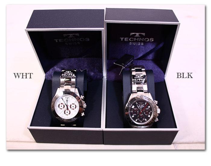 TECHNOS chronograph mens watch TBM 634-enabled
